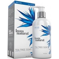 InstaNatural Tea Tree Oil Antifungal Soap - Foot & Body Wash - For Nail Fungus, Odor, Athlete's Foot, Ringworm & Jock Itch - For Dry, Itching & Irritated Skin - 8 OZ