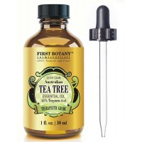 100% Pure Australian Tea Tree Essential Oil with 45% Terpinen-4-ol, 1 fl. oz. A Known Solution to Help in Fighting Acne, Toenail Fungus, Dandruff, Yeast Infections, Cold Sores..