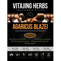 Agaricus Blazei Murill Mushroom Extract Powder - Organic - (2oz / 57gr) - 20:1 Concentration