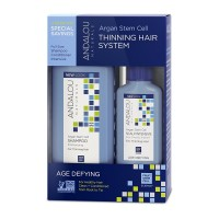 Andalou Naturals Age Defying Hair Thinning Treatment System, 3 Piece Kit