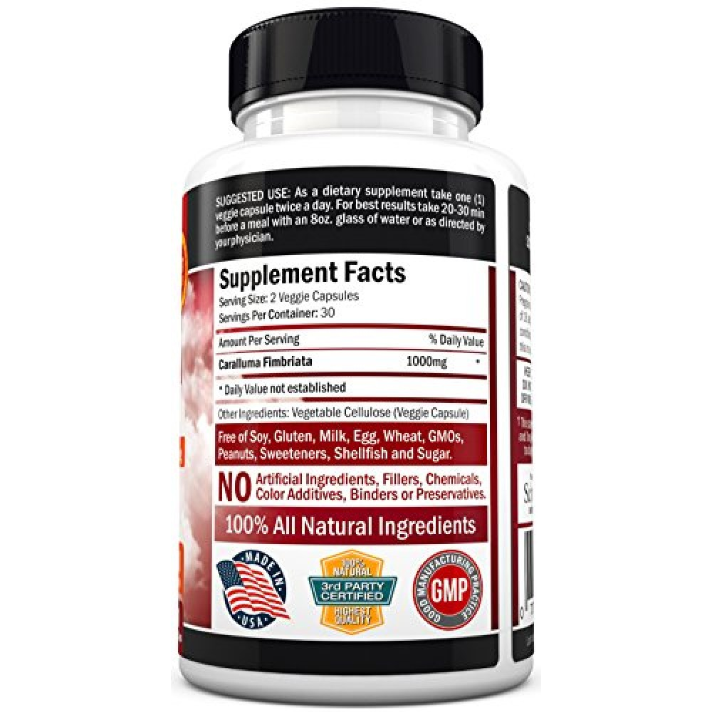 Appetite Suppressant Pure Caralluma Fimbriata Extract 1000mg All Natural Weight Loss Pills To Get Slim Fast
