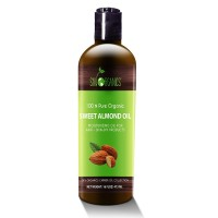 Best Sweet Almond Oil by Sky Organics 16oz- 100% Pure, Cold-Pressed, Organic Almond Oil. Great As a Baby Oil- Works Wonder On Wrinkles- Anti-Aging. Almond Oil- Carrier Oil for Massage