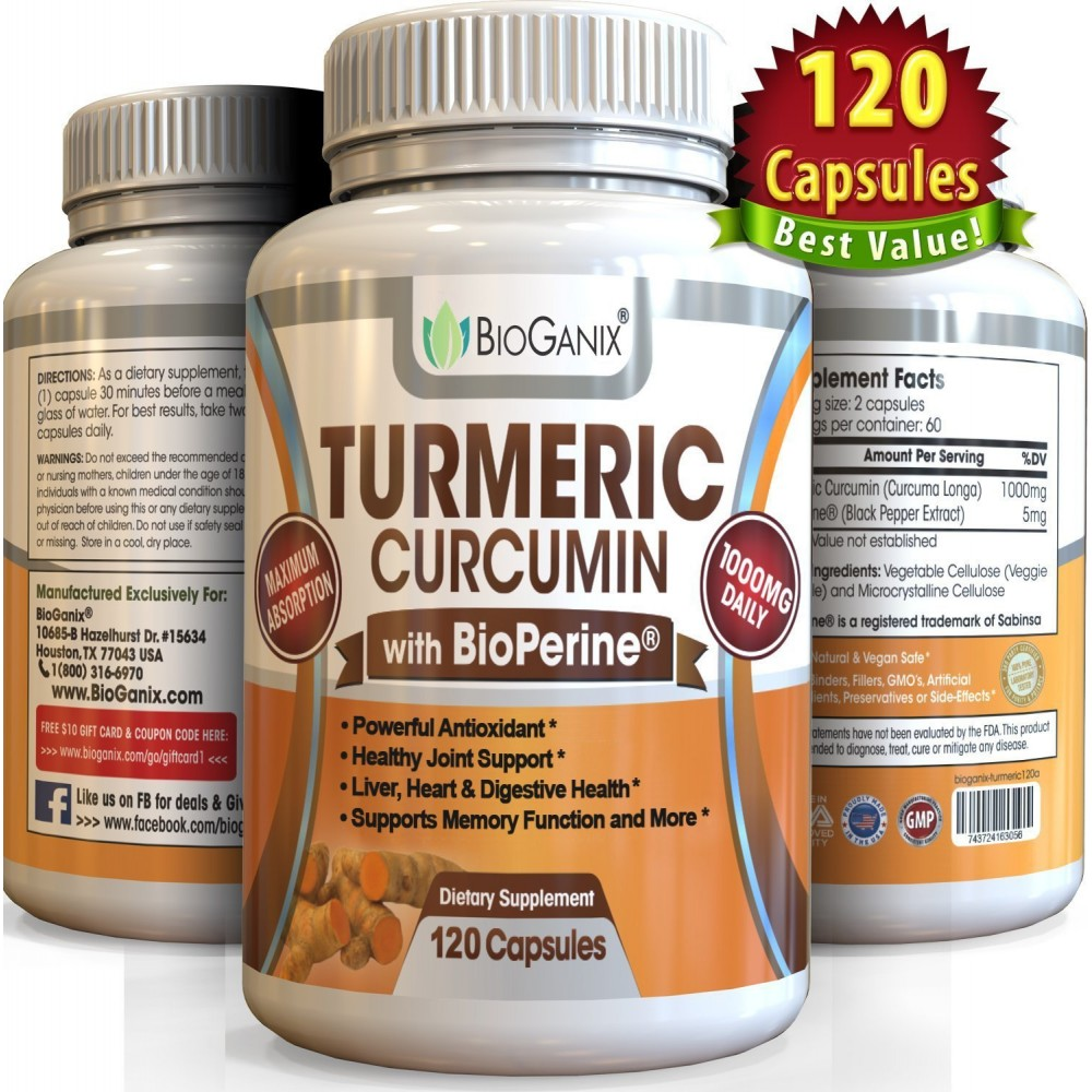 Buy Best Turmeric Curcumin Extract Supplement With