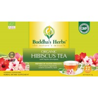Buddha's Herbs Premium Organic Hibiscus Tea with Lemongrass, 22 Tea Bags (Pack of 2)