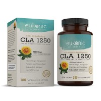 CLA 1250 mg by Eukonic - 180 Softgels - Weight Loss, Fat Burner, Natural Diet Pills - Lose Weight - Made in USA - Non-GMO - 3rd Party Tested