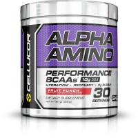 Cellucor Alpha Amino Performance BCAA Powder, BCAAs & Essential Amino Acids for Recovery, Fruit Punch, 30 Servings