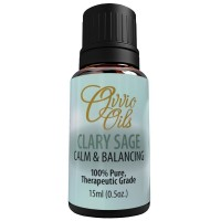 Clary Sage Essential Oil by Ovvio | Natural Essential Oils for Holistic Health | 100% Pure Aromatherapy Oil | Highest Quality from Bulgaria | Large 15ml