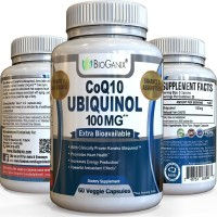 CoQ10 Ubiquinol 100mg serving - Powerful Extra Bioavailable Formula With Clinically Proven Kaneka QH - Powerful Antioxidant Promotes Heart Health, Increases Energy & Helps Prevent Free Radical Damage