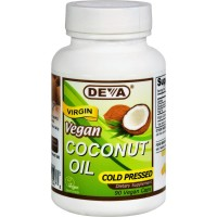 Devan Vegan Vitamins Coconut Oil - Vegan - 90 Vegan Capsules - Gluten Free - Cold Pressed - Vegan