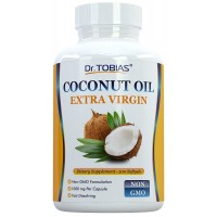 Dr. Tobias Organic Coconut Oil Extra Virgin 1000mg 100 Softgels