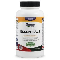 Effective Daily Multivitamin - Natural and Nutrient Rich - Contains Vitamins Minerals Enzymes Amino Acids Antioxidants and Probiotics! 90 count (3 Month Supply!) By Zenesis Labs
