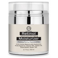 Elite Naturals Retinol Moisturizer Cream for Face and Eye Area 1.7 Oz - Hyaluronic Acid, Shea Butter and Vitamin E, Anti Aging Skin Care Formula Reduces Wrinkles Fine Lines, Best Day and Night Cream