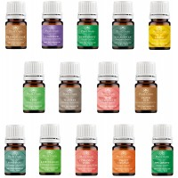 Essential Oil Set 14 - 5 ml. Pure Therapeutic Grade Includes Frankincense, Lavender, Peppermint, Rosemary, Orange, Tea Tree, Eucalyptus, Grapefruit, Lemon, Lime, Clove, Spearmint, Lemongrass, Cinnamon