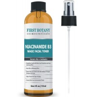 First Botany Niacinamide Vitamin B3 Magic Toner 4 fl. oz Acne Fighting Effect ,Skin Lightening Effect and Water Loss Prevention Effect