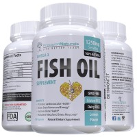 Fish Oil Omega 3 Vitamin/Supplement 120 Count Capsules/Softgels 1250mg Pharmaceutical Grade Simply the Best Triple Strength Fish Oil With EPA and DHA Natural Lemon Flavor