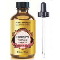 Frankincense Essential Oil (75% Alpha Thujene) With A Glass Dropper - 1 fl oz - 100% Pure & Natural Premium Grade - Ideal for Aromatherapy & Massages