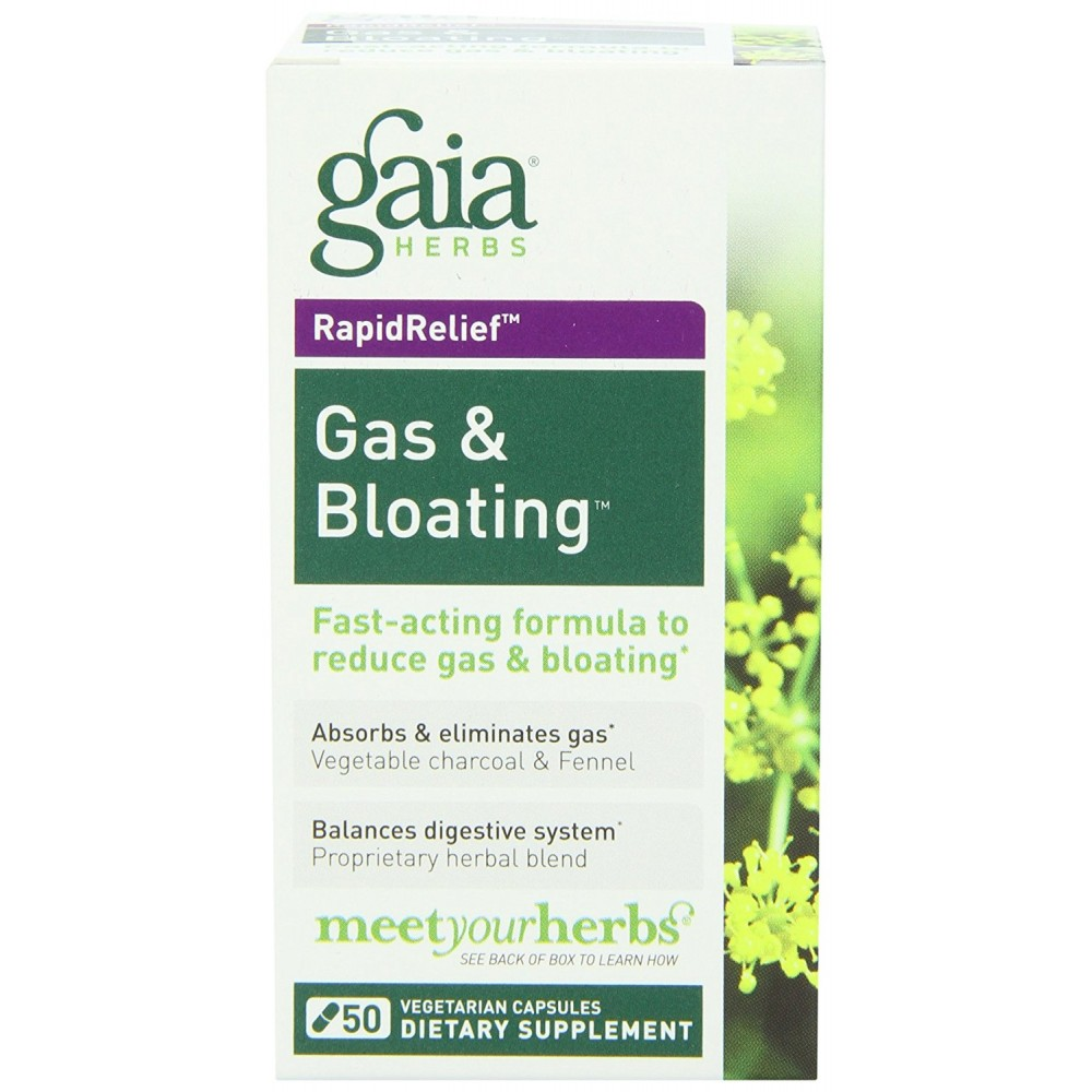 Buy herbal supplements 1000 count capsules -  Gaia Herbs Gas And Bloating Dietary Supplement Capsules 50 Count Frustration Free Packaging