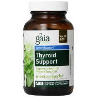 Gaia Herbs Thyroid Support Liquid Phyto-Capsules, 120 Count