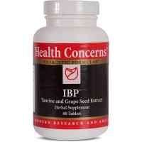 Health Concerns - IBP - Taurine and Grape Seed Extract Herbal Supplement - Supports Cardiovascular Health - 60 Tablets