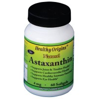 Healthy Origins Astaxanthin Gels, 4 Mg, 60 Count