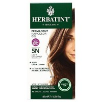 Herbatint Permanent Herbal Haircolor Gel, 5N Light Chestnut, 4.56 Ounce