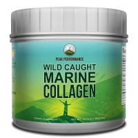 Highest Grade Marine Collagen Peptides / Protein Powder By Peak Performance. From Wild-Caught Snapper. Anti-Aging, ZERO Carbs, ZERO Sugar, Gluten & Dairy Free, Non GMO, Paleo and Keto. Unflavored