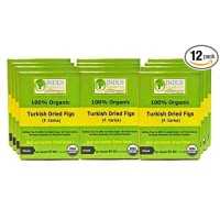 Indus Organics Turkish Figs Diced, 40 gm (Pack of 12), Sulfate Free, No Added Sugar, Premium Grade Freshly Packed