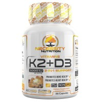 K2-D3 (MK-7) Vitamin Supplement 5000 IU Capsules Natural Calcium Absorption Non Gmo Easy Swallow Complex Vegetarian Formula Supports Strong Bone Health and Healthy Heart Plus Cholecalciferol
