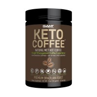 Keto Coffee - Gourmet Sugar-Free Complete Instant Coffee Drink with 6g of MCT for Low Carb, Ketogenic, and Paleo Diets. Caffeinated 20 Servings