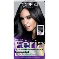 L'Oréal Paris Feria Permanent Hair Color, 20 Black Leather (Natural Black)