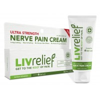LivRelief Ultra Strength Natural Nerve Relief Cream - Homeopathic, Long Lasting Temporary Relief From Shooting Pain Like Pinched Nerves. Fast and Effective. Non Irritating.