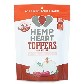 Manitoba Harvest Hemp Heart Toppers Chipotle/Onion & Garlic/Vegan/Kosher, 4.4 Ounce