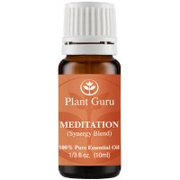 Meditation Synergy Essential Oil Blend 10 ml. 100% Pure, Undiluted, Therapeutic Grade. (Blend Of: Frankincense, Ho Wood, Eucalyptus Radiata, Lemon, Camphor, Yarrow Blue)