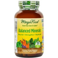 MegaFood - Balanced Minerals, Supports Bone Development, Muscle Function, & Metabolism, 90 Tablets (FFP)