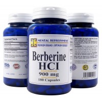 Mental Refreshment: Berberine 900mg, 180 Capsules (1 Bottle)