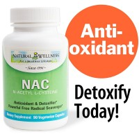 N-acetyl L-cysteine NAC by Natural Wellness, Key Antioxidant and Glutathione Precursor - 90 500mg vegetarian capsules