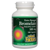 Natural Factors - Bromelain 500mg, Natural Support for Healthy Digestion, 180 Capsules