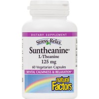 Natural Factors - Stress-Relax Suntheanine L-Theanine, Supports Mental Calmness & Relaxation, 60 Vegetarian Capsules
