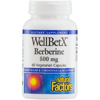 Natural Factors - WellBetX Berberine 500mg, Supports Heart Health, 60 Vegetarian Capsules