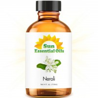 Neroli - LARGE 4 OUNCE - Organic, 100% Pure Essential Oil (Best 4 fl oz / 118ml) - Sun Organic