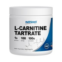 Nutricost L-Carnitine Tartrate Powder (100 Grams) - 1 Gram per Serving; 100 Servings
