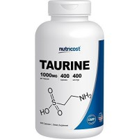 Nutricost Taurine 1000mg; 400 Capsules