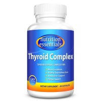 Nutrition Essentials Thyroid Complex | Improves Blood Circulation & Increases Metabolism | Natural Iodine Supplement | Best Treatment for Thyroid Disorders | GMP Approved | Made in USA | 60 Capsules