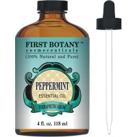 Peppermint Essential Oil 4 fl.oz - 100% Pure & Natural Mentha Piperita Therapeutic Grade Dropper Included- Peppermint Oil is Great for Aromatherapy, Bad Breath & Muscle Relief