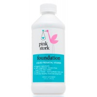 Pink Stork Foundation: Liquid Prenatal Vitamin -78% Better Absorption than Pills & Capsules -Organic Whole Food -Gluten & Sugar Free, Vegetarian, Non-GMO -100% of Daily Vitamins for Pregnancy