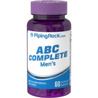 Piping Rock ABC Complete Men's Multivitamin / Mineral Supplement 60 Coated Caplets