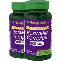 Piping Rock Boswellia Serrata Standardized Extract 800 mg 2 Bottles x 100 Quick Release Capsules Dietary Supplement