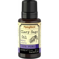 Piping Rock Clary Sage 100% Pure Essential Oil 1/2 oz (15 ml) Dropper Bottle Salvia Sclarea