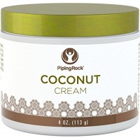 Piping Rock Coconut Cream 4 oz (113 g) Jar paraben & Silicone Free