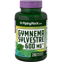 Piping Rock Gymnema Sylvestre 600 mg 200 Quick Release Capsules Herbal Supplement